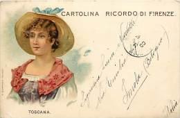 Ref C372- Dessin Illustrateur - Toscana -italie Italia -cartolina Ricordo Di Firenze - Florence -theme Illustrateurs - - Firenze (Florence)