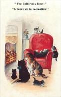 Ref C361-illustrateur- Chat - Chats Et Chatons  - Theme Chats -cat -cats - Illustrateurs  - Carte Bon Etat  - - Chats