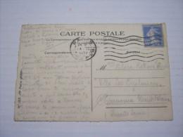 F3 FRANCE FRANCIA - 1932 PARIS GARE P L M  40 CENT. ON CARTE POSTALE - Francia