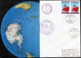 ANTARCTIC, SPAIN, Campana 1995/96 Base JUAN CARLOS I, 29.2.96, 2 Cachets, Nice Cover,  Look Scan !! 311-08 - Antarctische Expedities