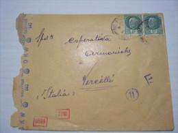 F3 FRANCE FRANCIA - LONGWY BAS 1942 X ITALY VERIFICATO X CENSURA OKW GEOFFNEI D 2 FRANCHI X 2 PZ. + 4 TIMBRI  CONTROL - Storia Postale