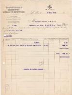 92 LEVALLOIS Perret FACTURE 1920 Société Générale D' IMPORATATION De PRODUITS ALIMENTAIRES  Café  - B24 - France