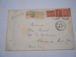 F3 FRANCE FRANCIA - 1932 PARIS 21 RUE DE LA BASTILLE REGISTERED N. 3 RACCOMANDATA X CHAMONIX - Francia