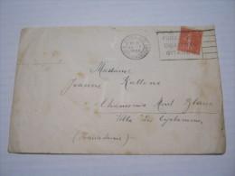 F3 FRANCE FRANCIA - 1932 PARIS XVIII 18 RUE DE CLIGNANCOURT ANNULLO TARGHETTA FUMO GITANES CIGARETTES FUMEZ X CHAMONIX - Francia