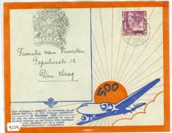 LP * 500e POSTVLUCHT NEDERLANDS-INDIE * BRIEFOMSLAG Uit 1937 Van SOERABAJA Naar DEN HAAG  (9234) - Niederländisch-Indien
