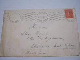 F3 FRANCE FRANCIA - 1932 PARIS GARE PLM STAZIONE FERROVIA 50 CENT. X CHAMONIX MONT BLANC SAVOIE - Francia