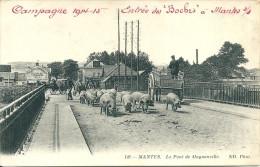 YVELINES -Mantes - Le Pont De Magnanville  (  Avec Un Titre Faite à L'encre Rouge ) - Sin Clasificación