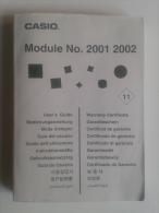 Lib414 Manuale Orologio Montre Clock Casio Module No 2001 2002, User Guide - Gioielli & Orologeria