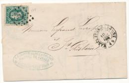 1872 FIRMABRIEF MET PZ30 VAN MARCHIENNE-AU-PONT(2RING+ PUNTSTEMPE L 238) NAAR St GHISLAIN(2RING) ZIE SCAN(S) - 1869-1883 Léopold II