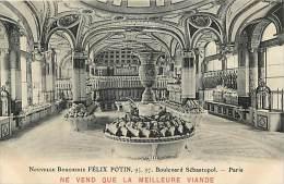 Ref C313- Paris - Commerce -magasin - Felix Potin - La Nouvelle Boucherie -bd Sebastopol Paris - Carte Bon Etat - - Magasins