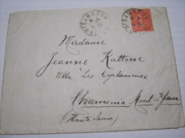 F3 FRANCE FRANCIA - 1932 PARIS A MACON     50 C. X CHAMONIX MONT BLANC - Francia