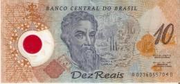 BILLETE DE BRASIL DE 10 REAIS DEL AÑO 2000  (BANKNOTE) - Brasil