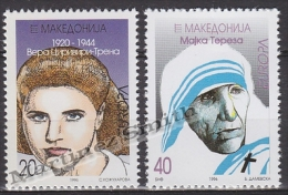 Macedonia 1996 Yvert 91-92, Europa Cept. Famous Women - MNH - Macedonia
