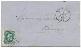 1873 BRIEF MET PZ30 VAN BOUSSU(2RING+ PUNTSTEMPE L ??) NAAR HORNU AANKOMSTSTEMPEL St GHISLAIN(2RING) ZIE SCAN(S) - 1869-1883 Léopold II