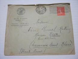 F3 FRANCE FRANCIA - 1932 PARIS 108 HAUSSMAIN VERIFICATO CENSURA X CHAMINIX GALLO SOLE ASSICURAZIONE - Francia