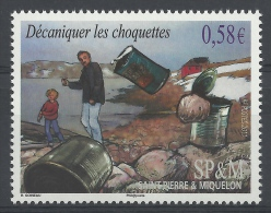 Saint Pierre And Miquelon, Man And Boy Throwing Rocks At Cans, 2011, MNH VF - Unused Stamps