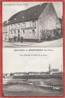 67 - SOUVENIR De  HERBITZHEIM - Restaurant Joseph JUVING - Vue Générale Et Pont De La Sarre - France