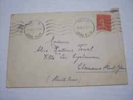 F3 FRANCE FRANCIA - 1932 PARIS GARE PLM X CHAMINIX 50 CENT. - Francia