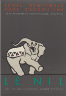 """CPM Ecole Régionale D'Art D'Angulème """"Le Nil"""", Bande Dessinée, Eléphant - Comics"""