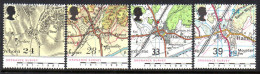 GB 1991 Ordnance Survey Maps Set Of 4, MNH - 1952-.... (Elizabeth II)