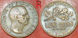 * Italian Occupation * ALBANIA 0.05 LEK 1940 R RARE! LOW START★NO RESERVE! - Albania
