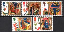 GB 1991 Christmas Set Of 5, MNH - 1952-.... (Elizabeth II)