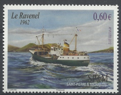 Saint Pierre And Miquelon, Ship, Fishing Trawler, Le Ravenel, 2012, MNH VF - Unused Stamps