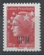 Saint Pierre And Miquelon, Marianne And Europe, Lettre Prioriaire 20g, 2012, MNH VF - Unused Stamps