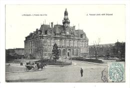 Cp, 87, Limoges, L'Hôtel De Ville, Voyagée 1907 - Limoges