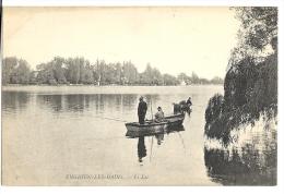 Cp,  95, Enghien-les-Bains, Le Lac, Pêcheurs - Enghien Les Bains