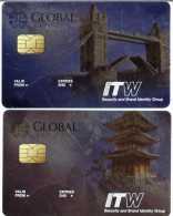 @+ Lot de 2 belles Cartes de D�monstration - ITW - Pays : Japon et Angleterre