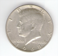 STATI UNITI HALF DOLLAR 1968 AG SILVER - Emissioni Federali