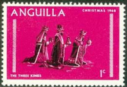ANGUILLA, TERRITORIO BRITANNICO, BRITISH TERRITORY, NATALE, CHRISTMAS, 1968, USATO, Mi 44, Scott 44, YT 28 - Anguilla (1968-...)