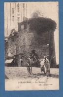 CPA - AVRANCHES - Le Donjon - Voiture à Chèvre / Bouc - Librairie Lechaplais - Avranches