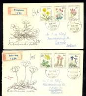 CZECHOSLOVAKIA * SET OF 2 FDC * COMPLETE * FLOWERS FLORA * 1960 - FDC