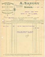 25 BESANCON FACTURE 1920  EPICERIE DROGUERIE En Gros A. SANCEY   - B25 - 1900 – 1949