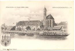 RARE ! BRANDENBURG A H Johanniskirche Mit Kloster Vor 1904 ! Wappen . Neue - Brandenburg