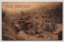 Congo Belge Belgisch Congo Mine D'or, Dragage D'une Rivière / Goudmijnen, Uitbaggeren Eener Rivier - Congo Belge - Autres