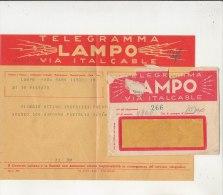 PO8209C# TELEGRAMMA LAMPO VIA ITALCABLE - ROMA-BARI - 1946-60: Marcofilie