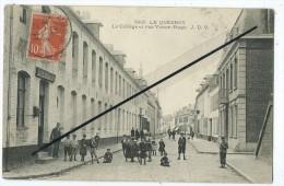 CPA- Le Quesnoy - Le Collège Et Rue Victor Hugo - Le Quesnoy
