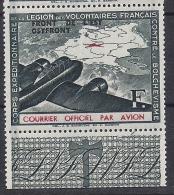 Timbre(s) Neuf(s)**,guerre,corps Expéditionnaire LVF, Courrier Officiel Aérien, 1942, ,n°4, Front De L'est - Non Classés