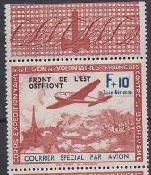 Timbre(s) Neuf(s)**,guerre,corps Expéditionnaire LVF, Courrier Officiel Aérien, 1942, ,n°5, Front De L´est - Non Classés