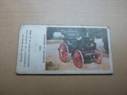 """Ticket De Pesée Sté Anonyme Fr. DES APPAREILS AUTOMATIQUES """"Série Musées De L´automobile - PANHARD ET LEVASSOR 1892"""" - Autres"""