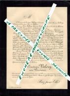 BASTIA FAIRE PARTS DECES NOBLESSE En 1896 La Comtesse VALERY Née PICCIONI Filigrane Ligné - Avvisi Di Necrologio