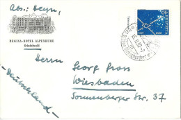 """Motiv Brief  """"Regina Hotel Alpenruhe, Grindelwald""""          1952 - Schweiz"""
