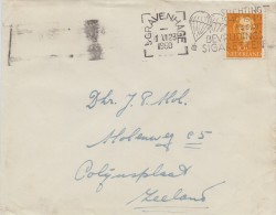 NEDERLAND :1950: Illustrated Cancellation On Travelled Cover : WO II,VALSCHERM,PARACHUTE,FUMER,SMOKE, - Tabac