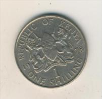 Rebublic Of Kenya V. 1978  1 Schilling  (40460) - Kenia