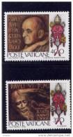 Vatican,1978, #630-1, 80 Th Birthday Of Paul V1  M Nh - Vatican