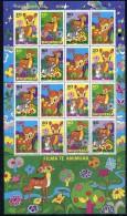 ALBANIA 2002 Cartoon Characters: Bambi Sheetlet  MNH / **.  Michel 2858-61 Kb - Albania