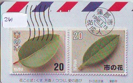 TEMBRE Sur Télécarte Japon * Stamp On Japan Phonecard (261) Briefmarke Auf TELEFONKARTE * - Timbres & Monnaies